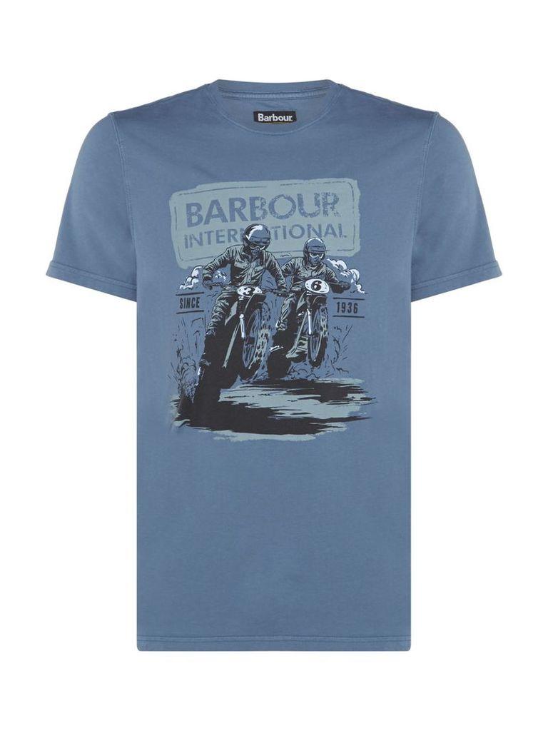 Men's Barbour Duke race short sleeve tshirt, Chambray