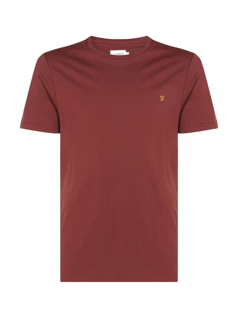 Men's Farah Denny Slim Marl T-Shirt, Burgundy
