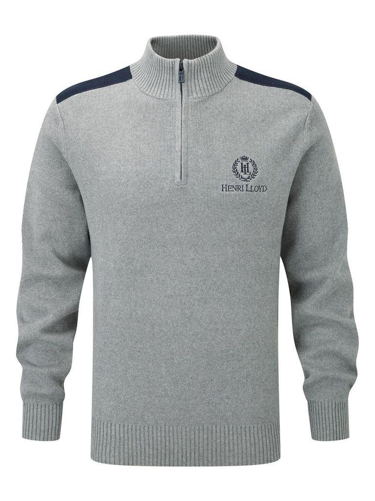Men's Henri Lloyd Cardon regular half zip knit, Grey