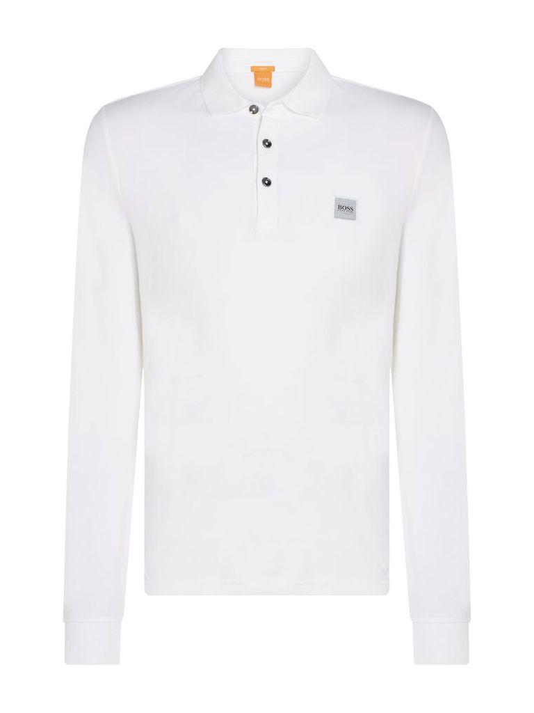 Men's Hugo Boss Paulyn long sleeve slim fit polo shirt, White