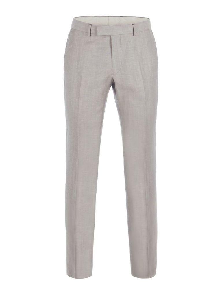 Men's Alexandre of England Lombard Oatmeal Linen Blend Trouser, Oatmeal