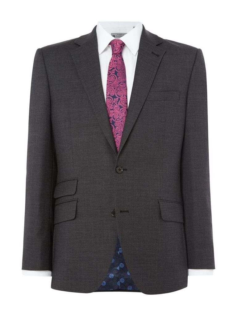 Men's Turner & Sanderson Halton Textured Suit Jacket, Grey