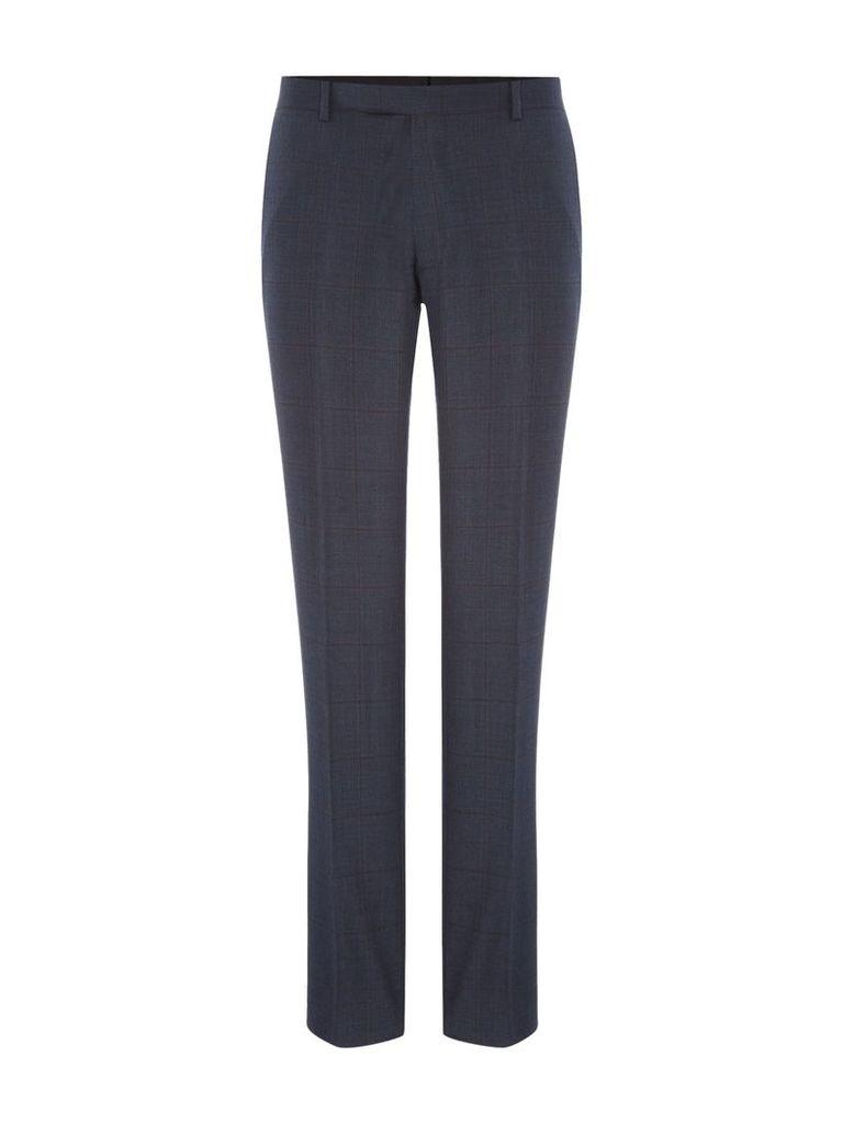 Men's Turner & Sanderson Devonshire Check Suit Trouser, Navy