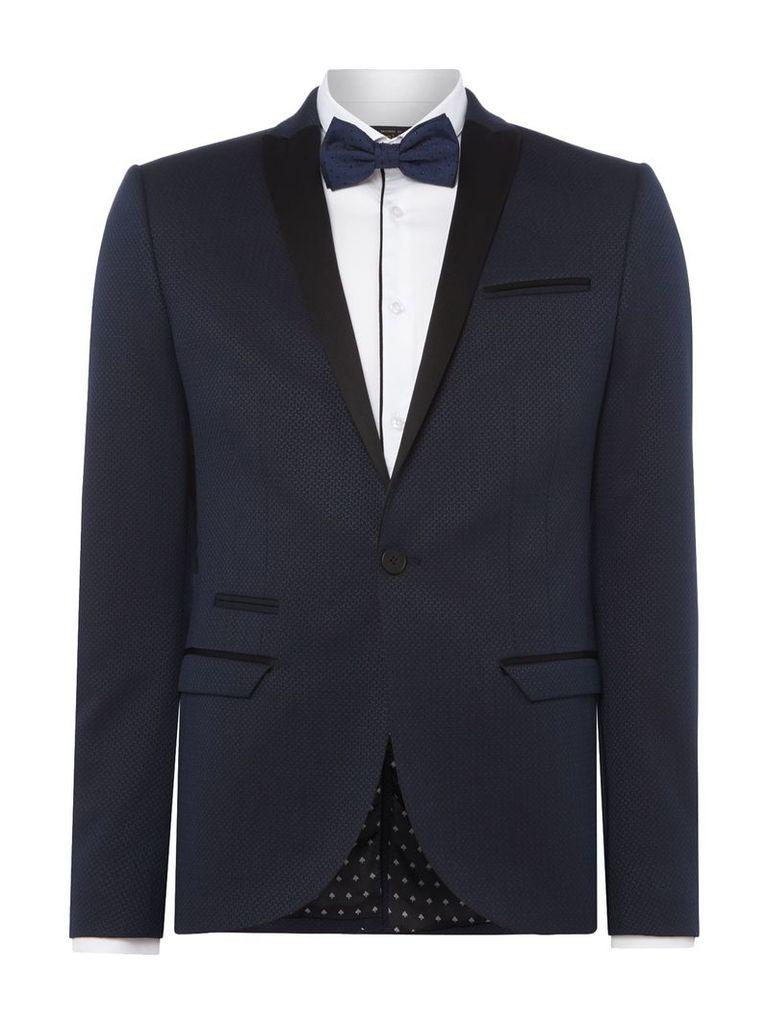 Men's Label Lab Angus Textured Skinny Suit Jacket, Navy