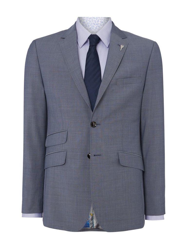 Men's Ted Baker Kahn Slim Fit Two Tone Sharkskin Suit Jacket, Light Blue
