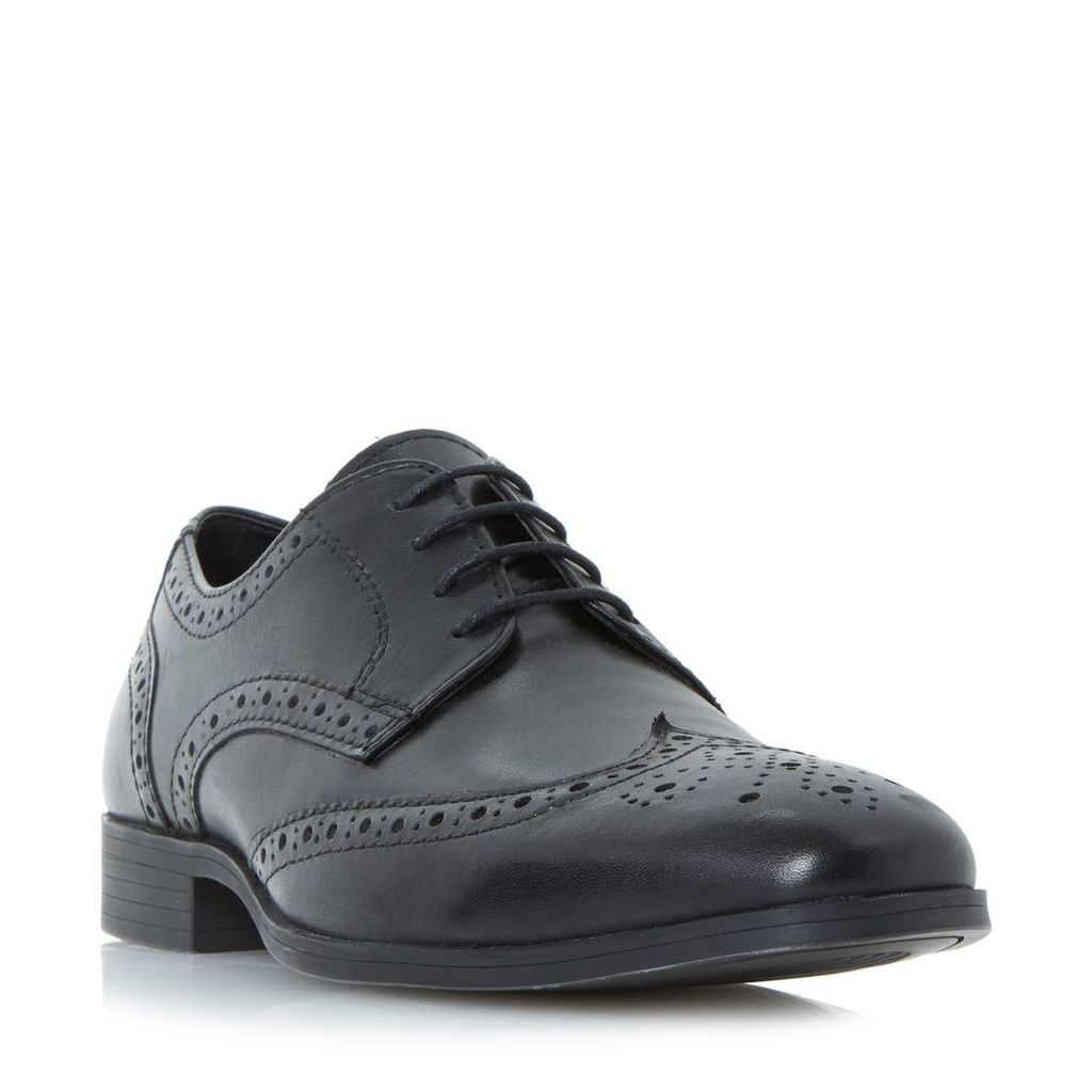 Howick Patricks Chisled Lace Up Brogues, Black