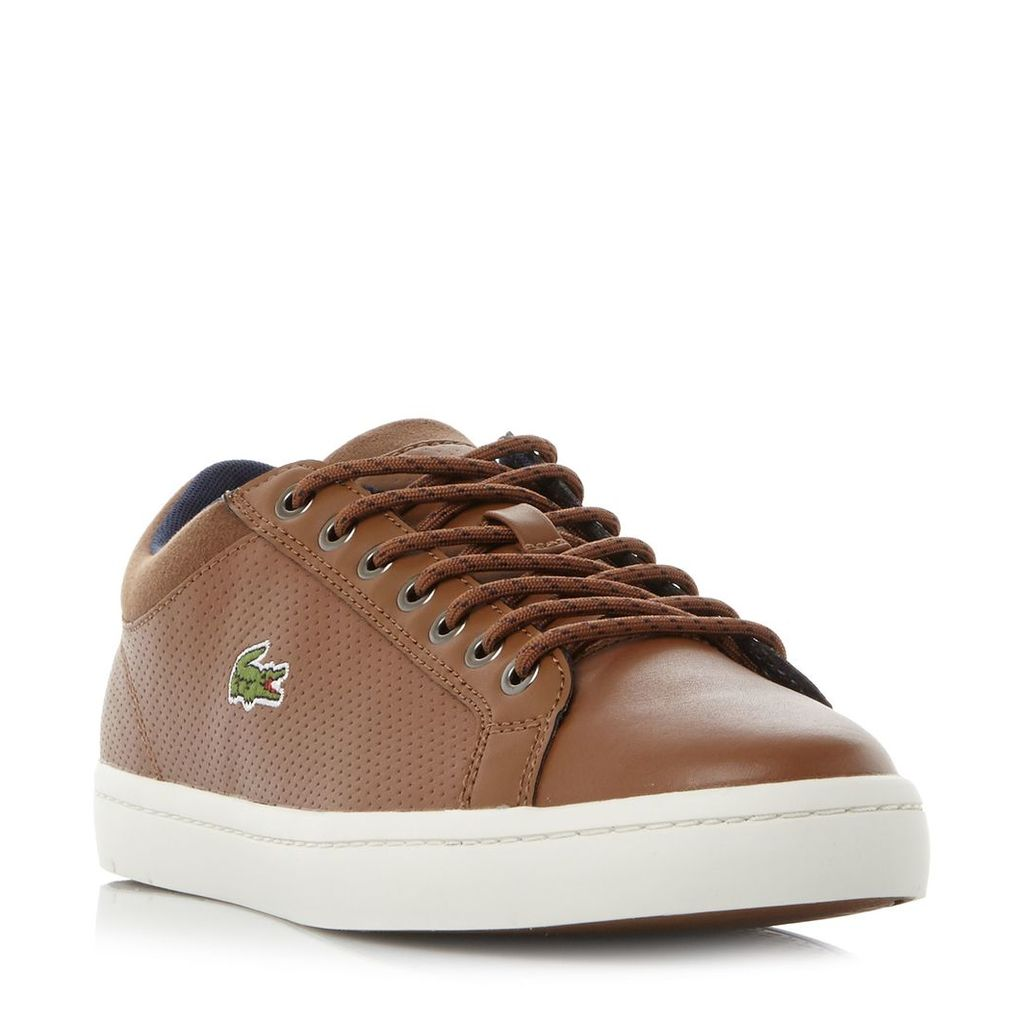 Lacoste Straightset Perf Quarter Trainers, Brown