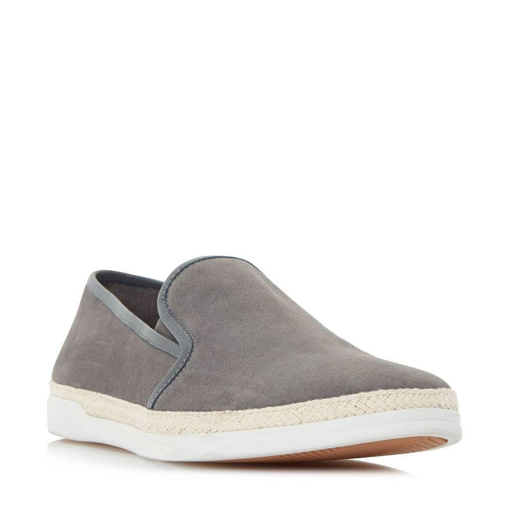 Dune Benjamin espadrille detail slip on shoe, Grey