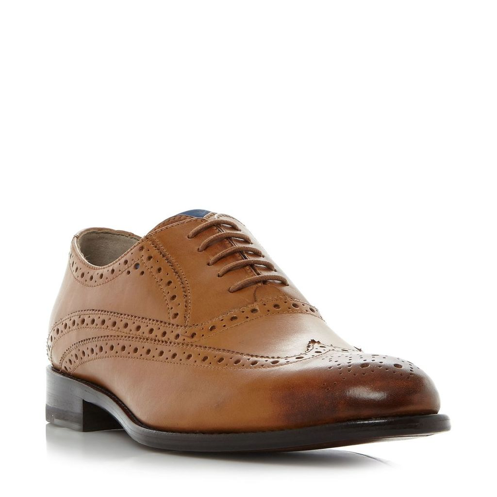 Oliver Sweeney Fellbeck Wingtip Classic Brogue Shoes, Tan