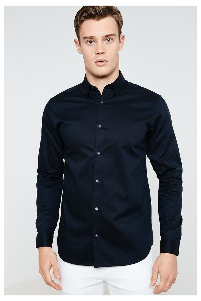 Jack & Jones Jake Long Sleeve Shirt - Blue