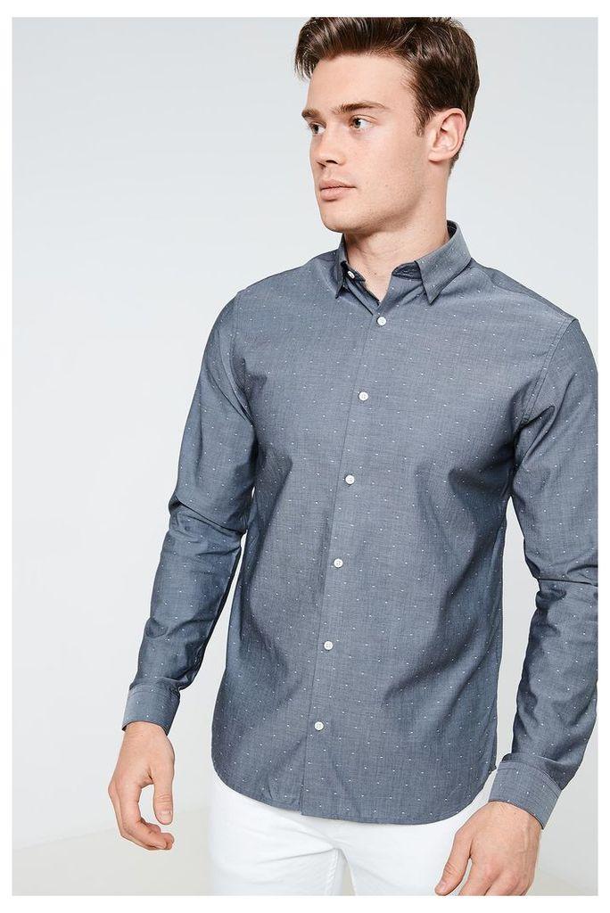 Jack & Jones Jake Long Sleeve Shirt - Grey