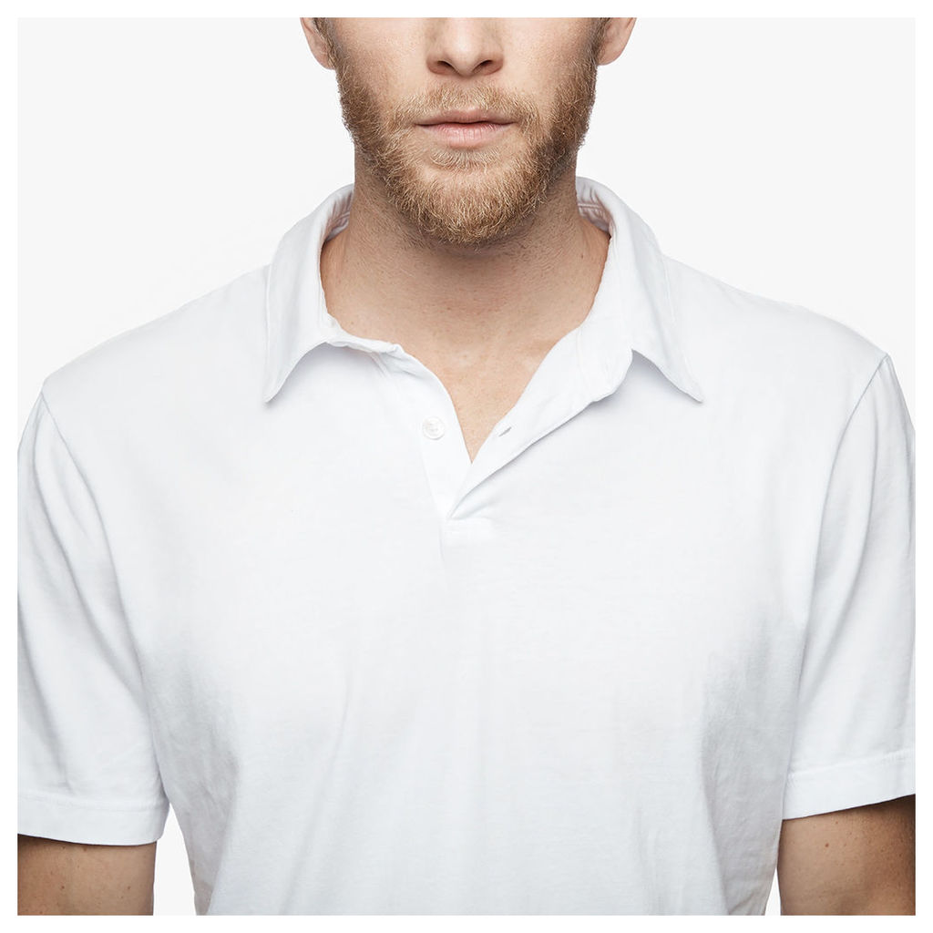 SUEDED JERSEY POLO