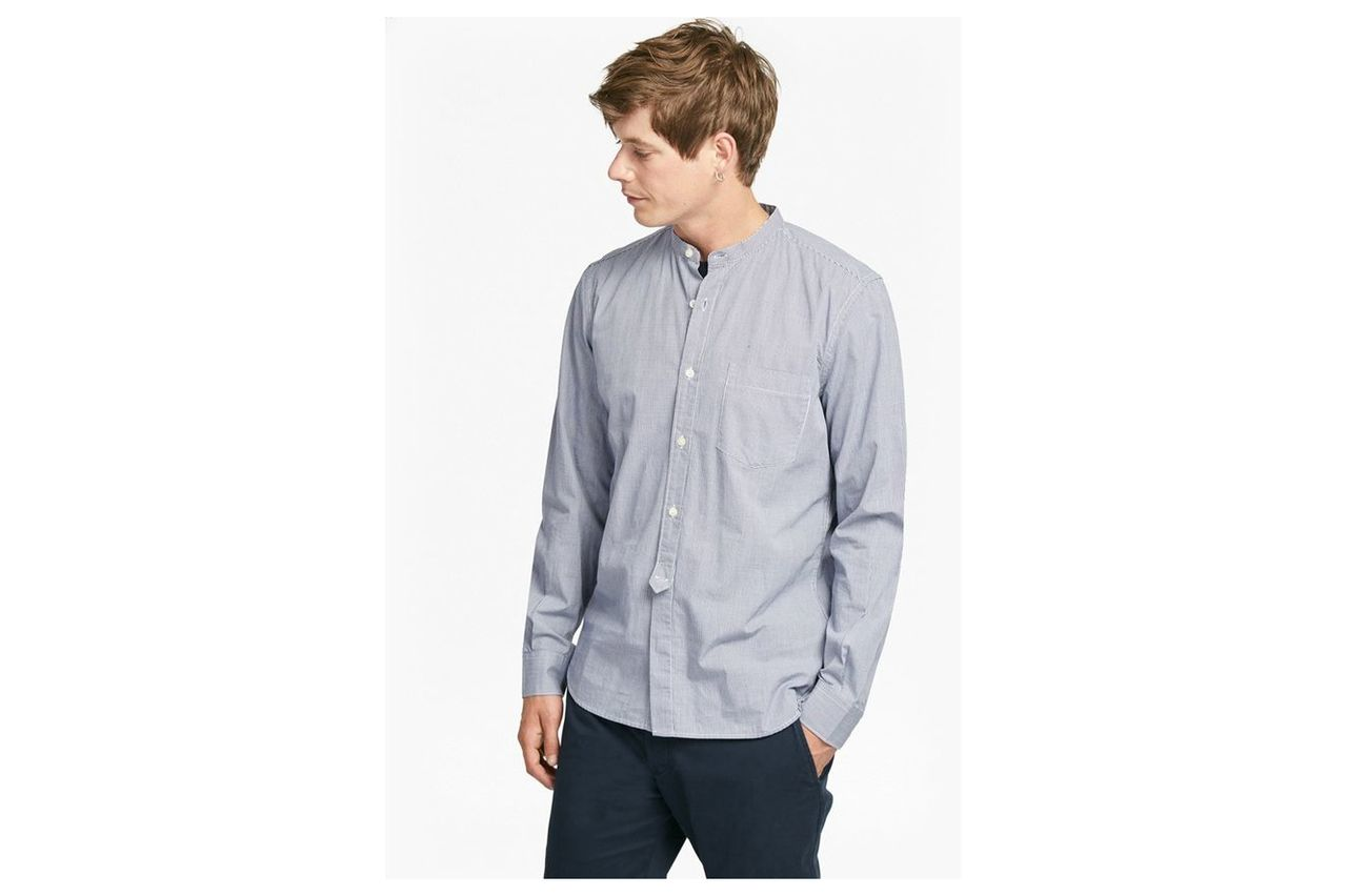 Gallery Gingham Peached Cotton Shirt - blueblood
