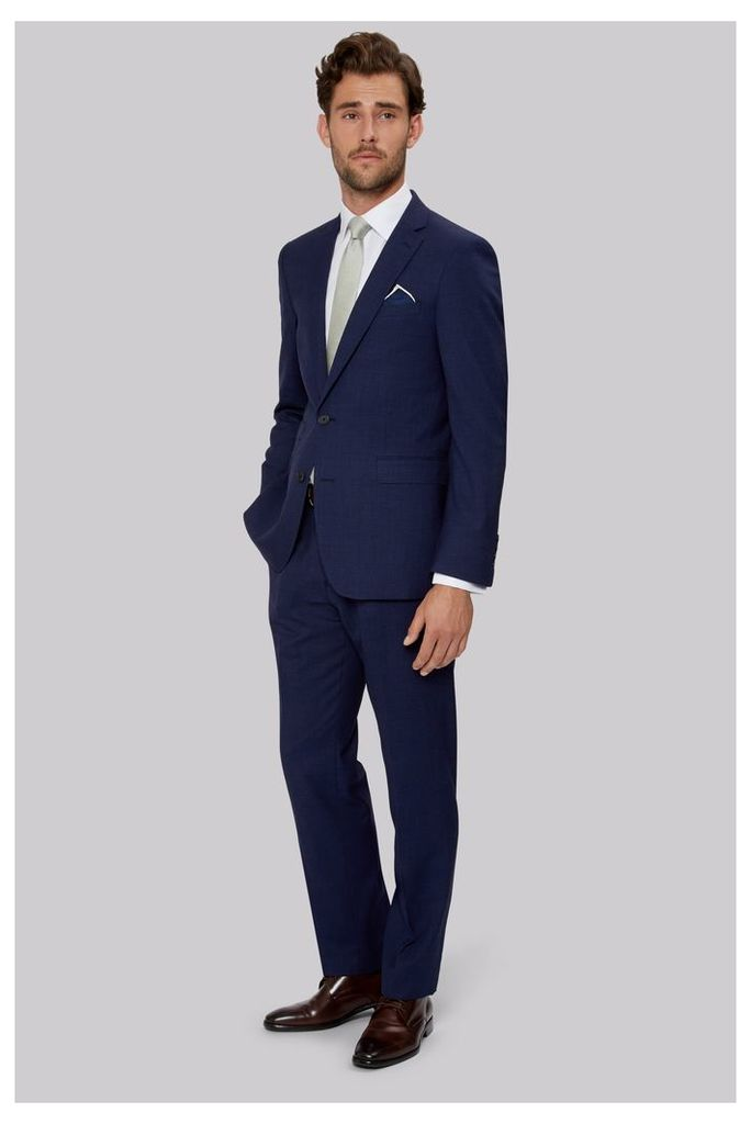 Moss 1851 Tailored Fit Indigo End on End Suit