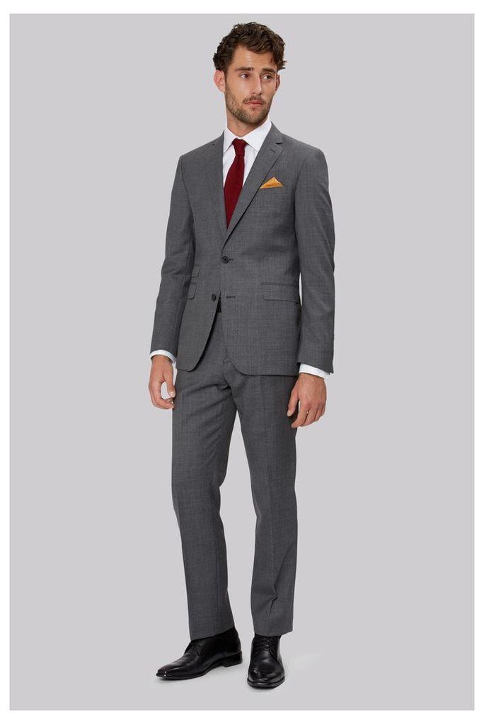Moss 1851 Tailored Fit Midnight Sharkskin Suit