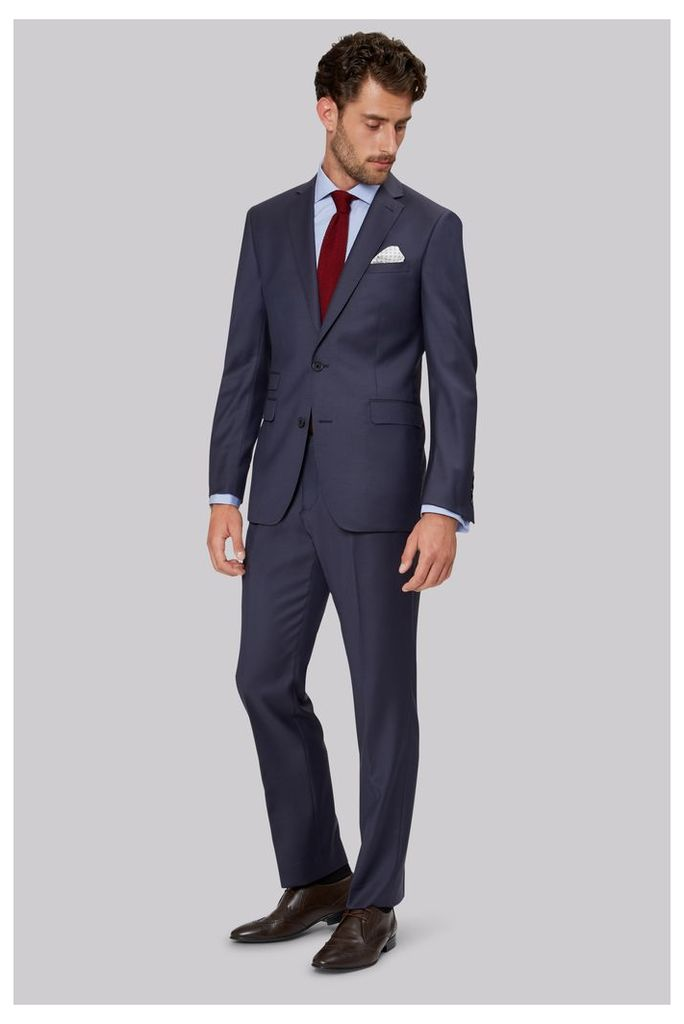 Moss 1851 Tailored Fit Slate Blue Suit