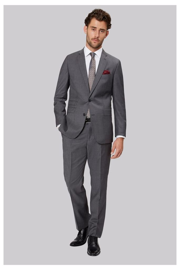 Moss 1851 Tailored Fit Grey Tonic Twill Suit