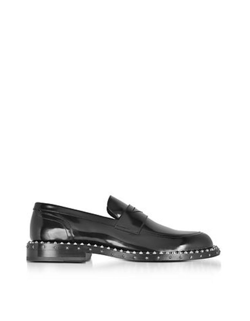 Jimmy Choo - Black Leather Stars and Studs Men's Loafer
