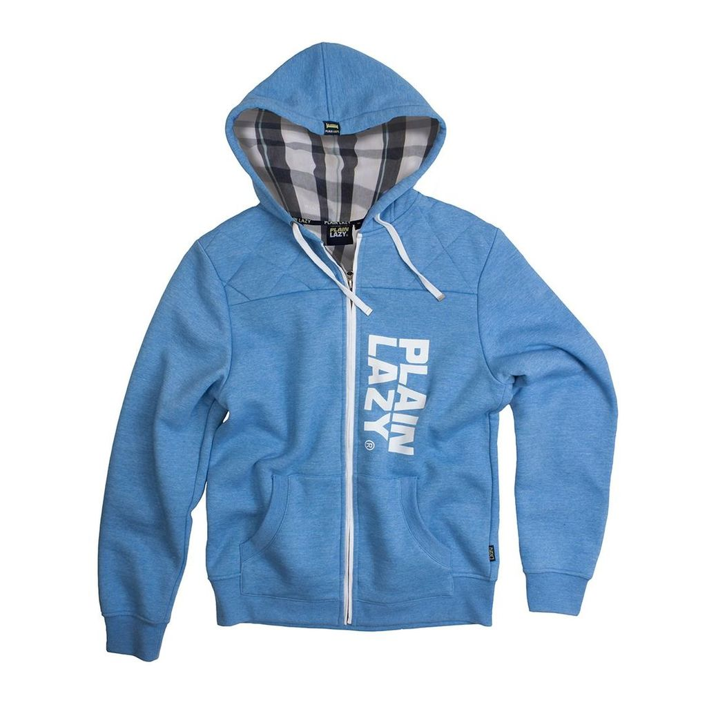 PLAIN LAZY CHECK ZIP QUILTED HOOD
