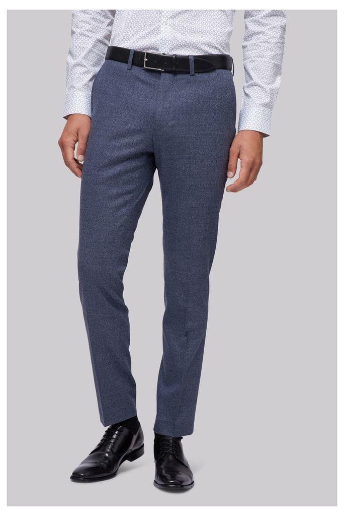 Moss London Skinny Fit Italian Light Blue Speckled Trouser