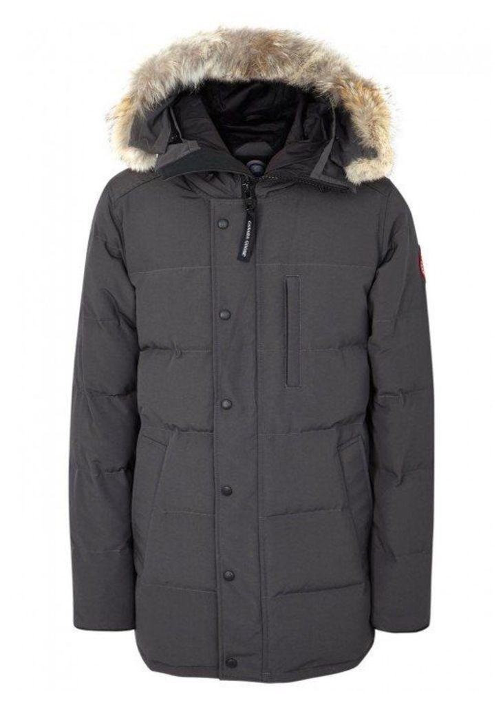 Canada Goose Carson Dark Grey Fur-trimmed Parka - Size M