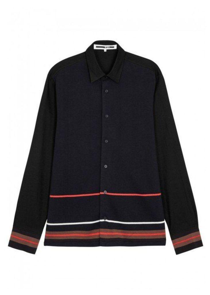 McQ Alexander McQueen Black Striped Cotton Shirt - Size 38
