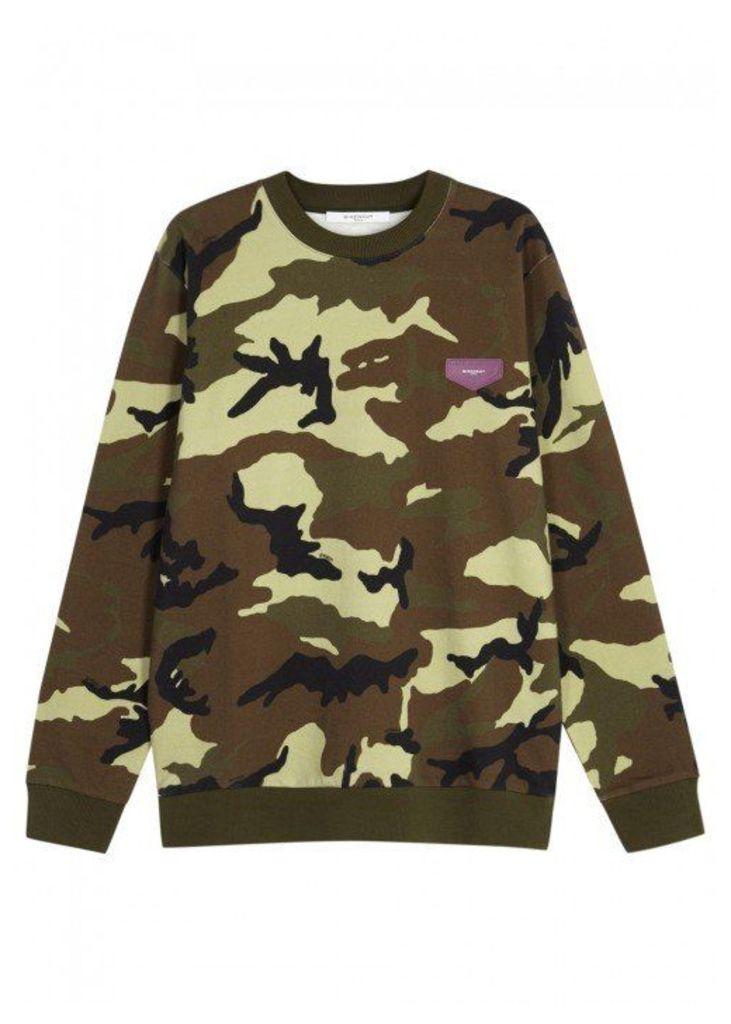 Givenchy Camouflage Cotton Sweatshirt - Size L