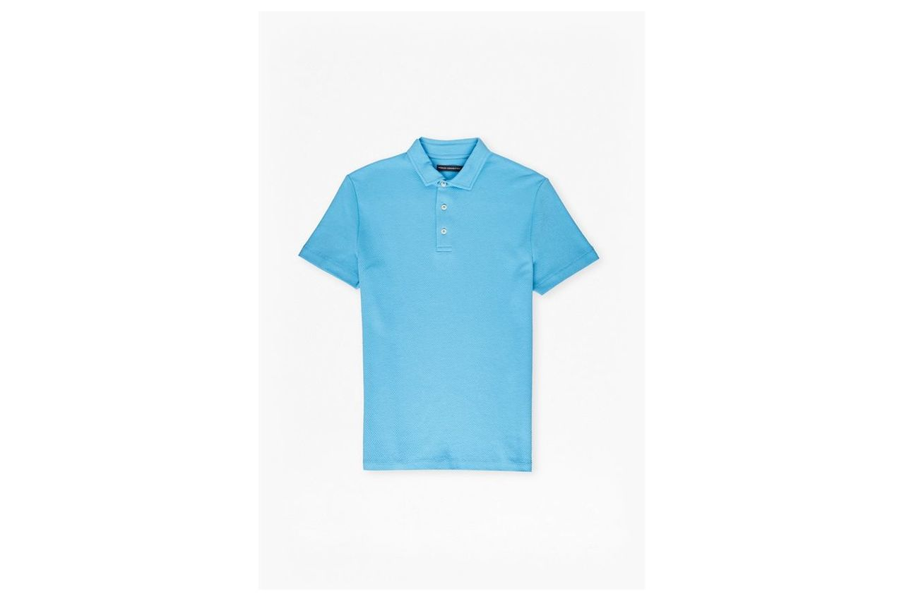 Central Crepe Polo Shirt - tropical blue