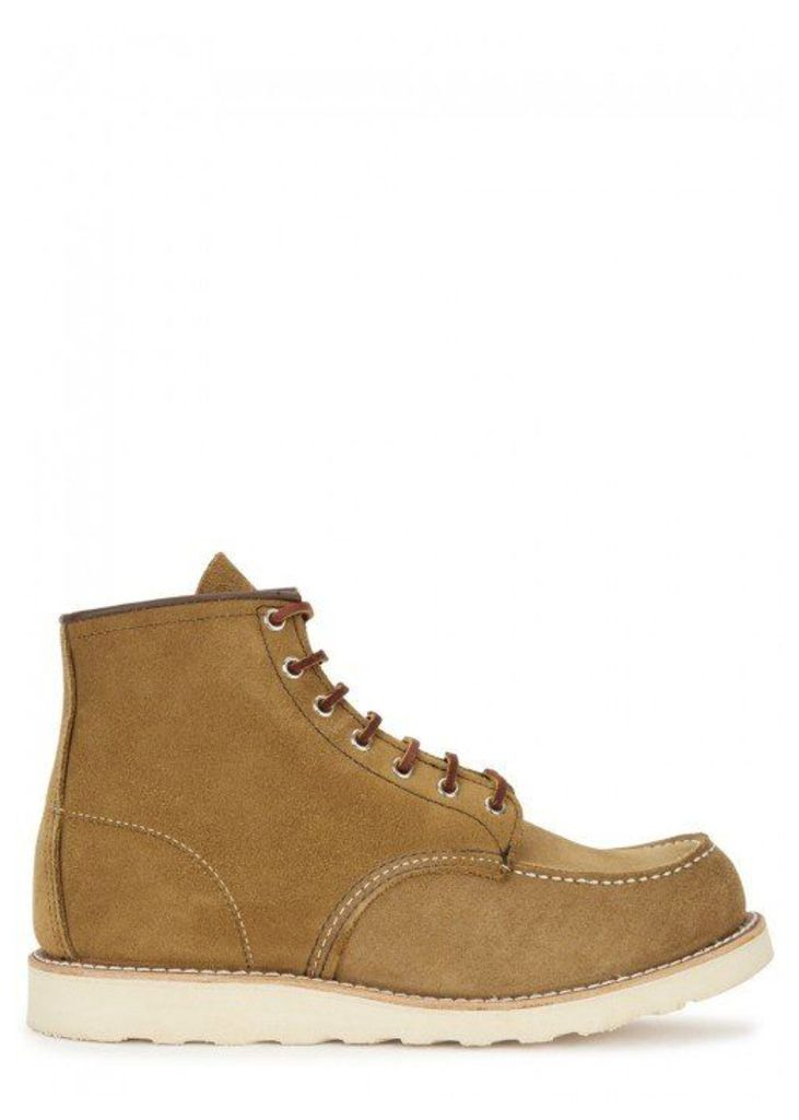 Red Wing Shoes Classic Moc Olive Suede Boots - Size 8