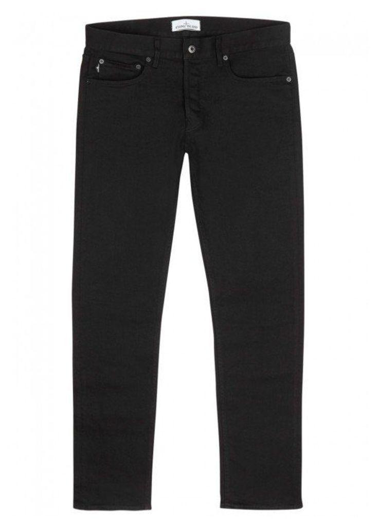 Stone Island Black Straight-leg Jeans - Size W34