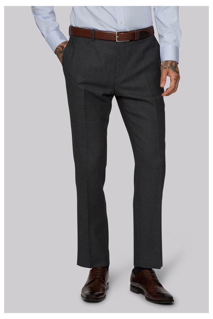 Moss 1851 Tailored Fit Charcoal Birdseye Trousers