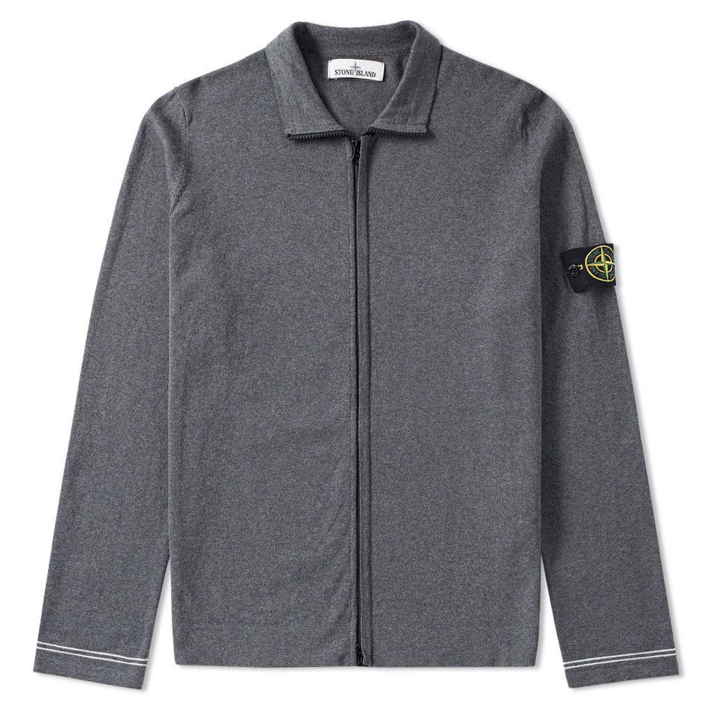 Stone Island Raw Cotton Zip Jacket