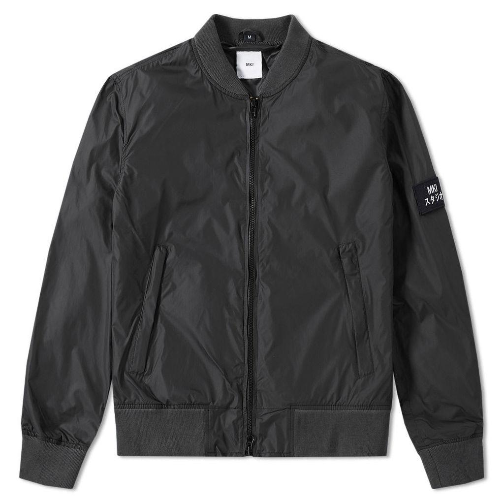 MKI Nylon Badge Bomber Jacket