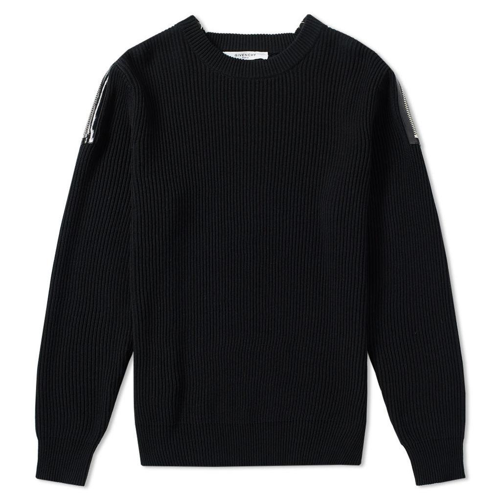 Givenchy Zip Detail Rib Knit