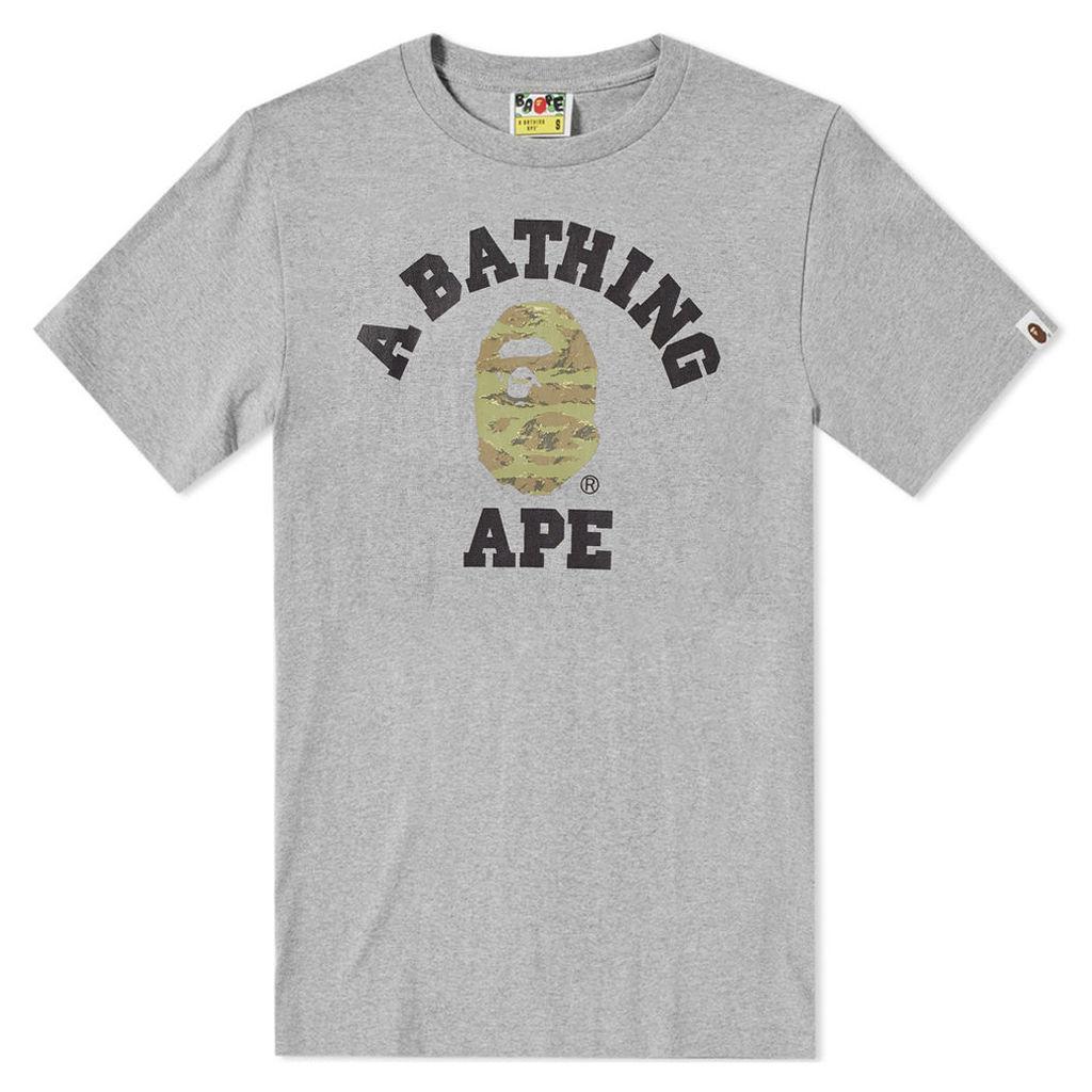 A Bathing Ape Tiger Camo College Tee