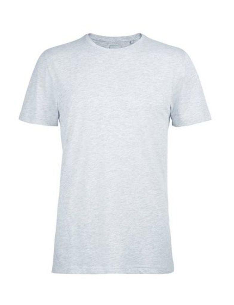 Mens Grey Crew Neck T-Shirt, Grey