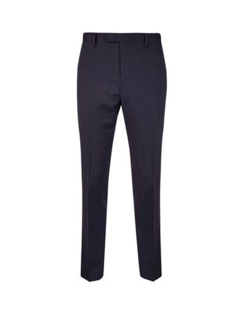 Mens Montague Burton Navy Slim Fit Suit Trousers, Blue