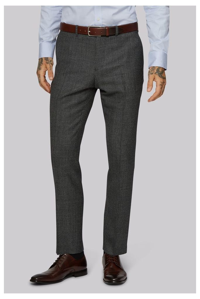 Moss 1851 Tailored Fit Glen Check Trousers