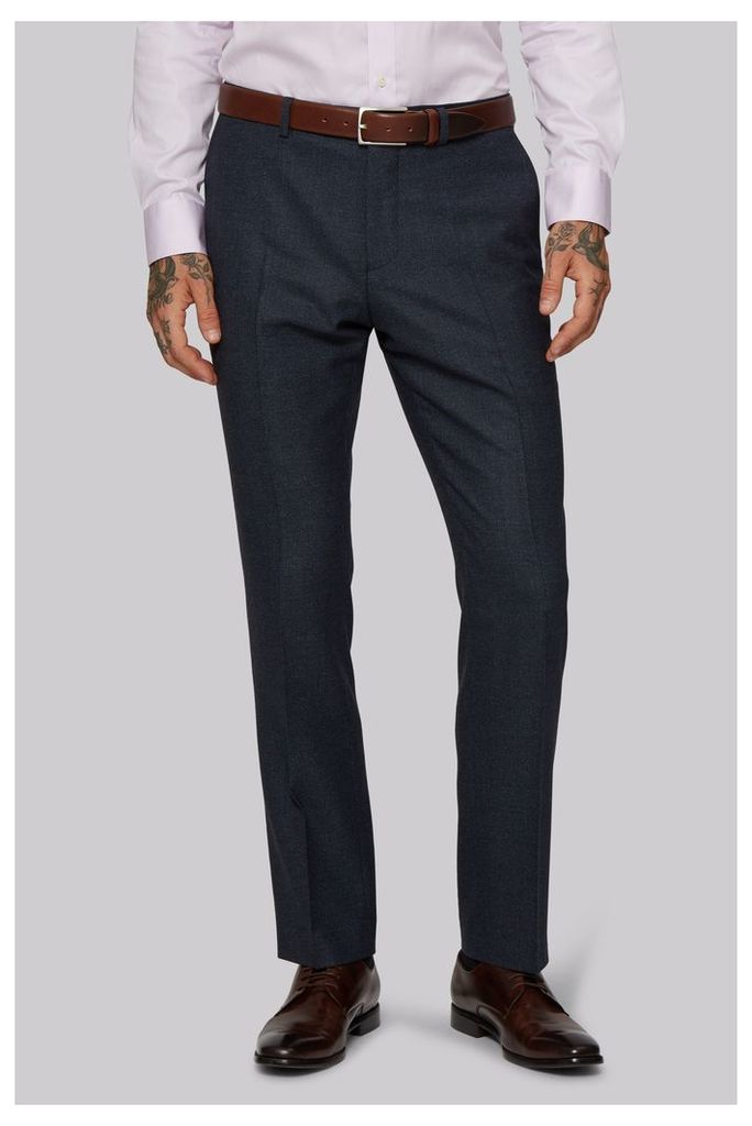Moss 1851 Tailored Fit Ink Texture Trousers