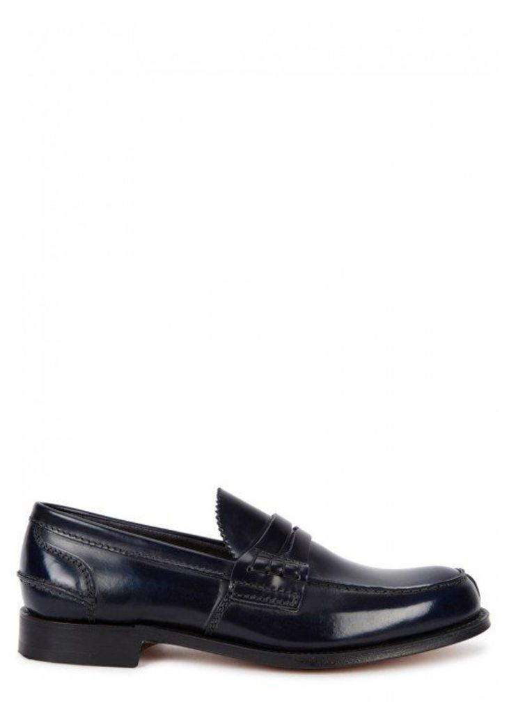 Church's Tunbridge Midnight Blue Leather Penny Loafers - Size 8
