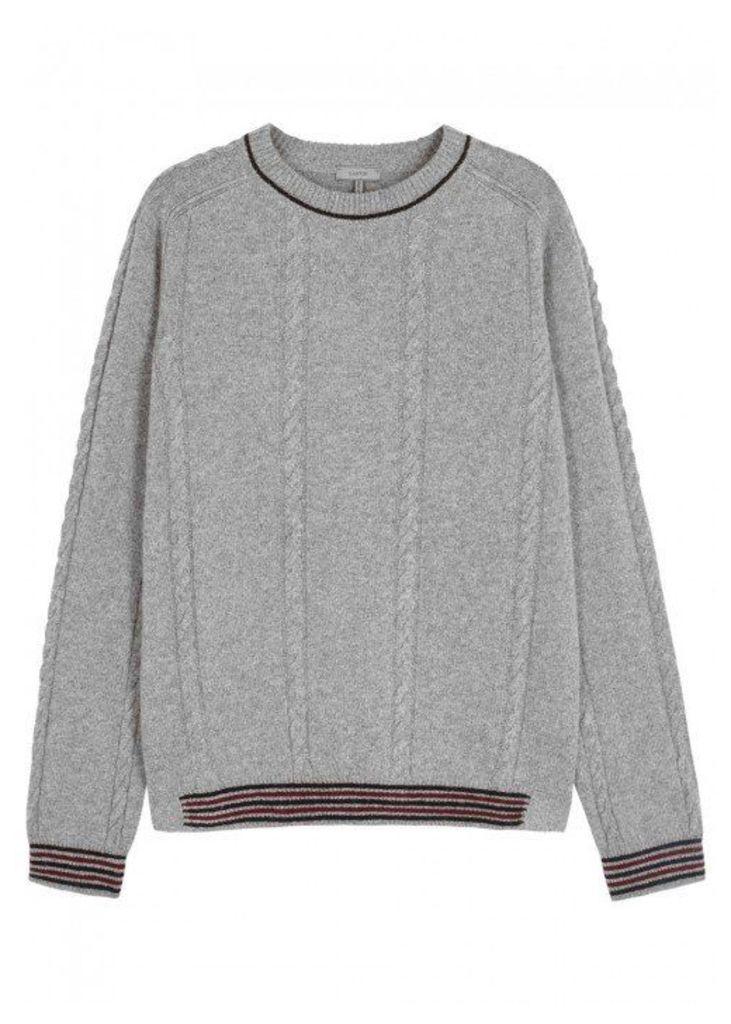Lanvin Grey Cable-knit Alpaca Blend Jumper - Size L