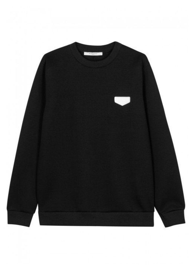 Givenchy Black Neoprene Sweatshirt - Size L