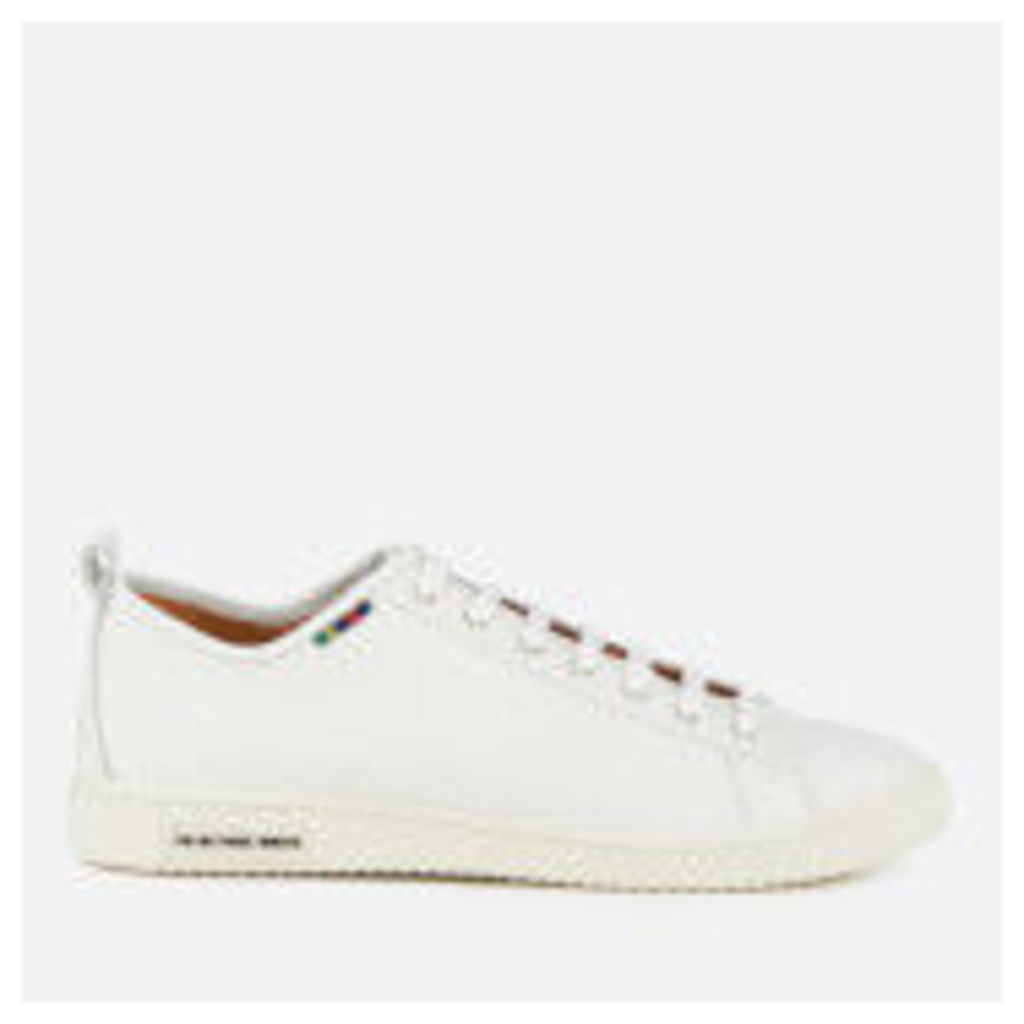 PS by Paul Smith Men's Miyata Leather Trainers - White - UK 11 - White