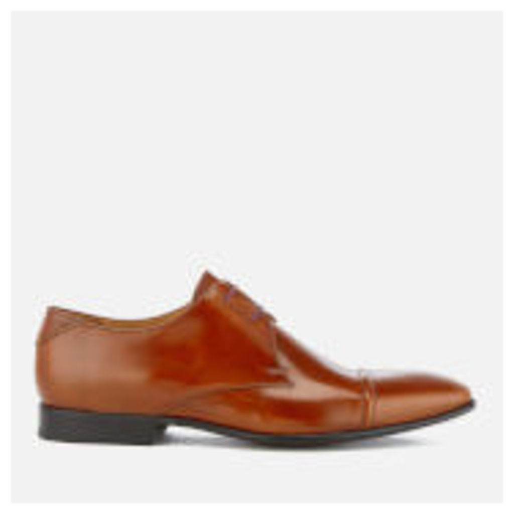 PS by Paul Smith Men's Robin High Shine Leather Toe Cap Derby Shoes - Tan - UK 11 - Tan