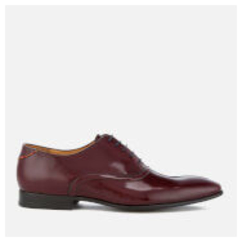 PS by Paul Smith Men's Starling High Shone Leather Oxford Shoes - Burgundy - UK 11 - Burgundy