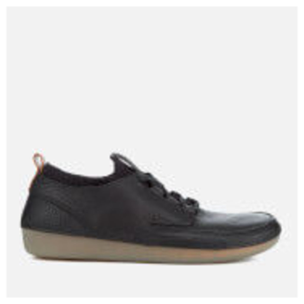 Clarks Men's Nature IV Leather Lace Up Shoes - Black - UK 11 - Black