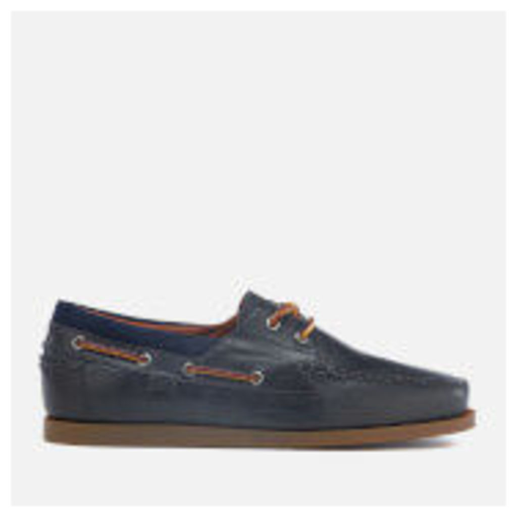 Polo Ralph Lauren Men's Dayne Smooth Oil Leather Boat Shoes - Newport Navy - UK 11 - Navy