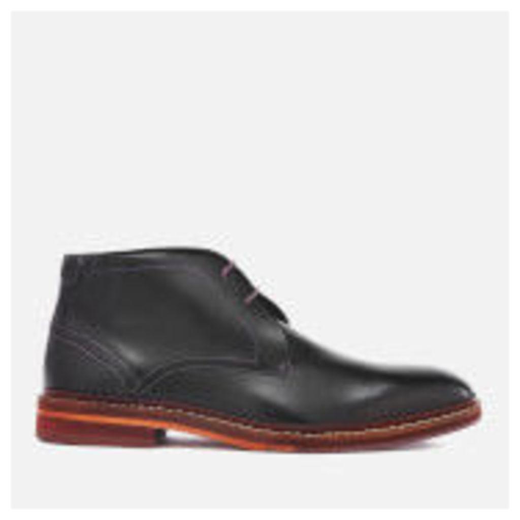 Ted Baker Men's Azzlan Leather Desert Boots - Black - UK 11 - Black
