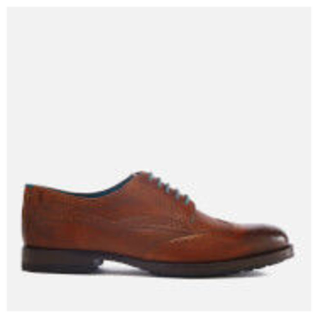 Ted Baker Men's Senape Leather Wingtip Brogues - Tan - UK 11 - Tan