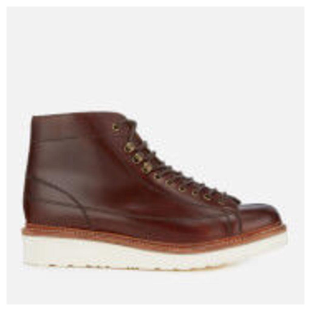 Grenson Men's Andy Leather Monkey Boots - Chestnut - UK 7 - Tan